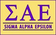 Sigma Alpha Epsilon Custom Line Sticker Decal