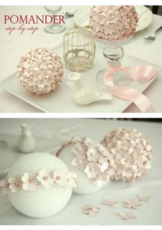 Diy silk rose pomander centerpiece wedding centerpiece kissing diy ideas para tu boda descubre las mejores aqu junglespirit Image collections