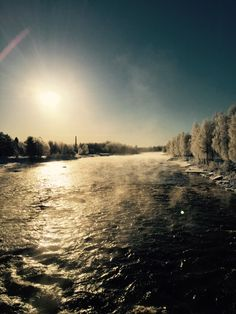 Sun is shining Winter Sun, Sunshine, River, Celestial, Sunset, Outdoor, Sunsets, Outdoors, Outdoor Games