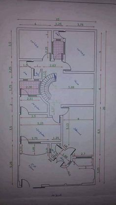 A floor plan is a type of drawing that shows you the layout of a home or property. Floor plans typically illustrate the location of walls, windows, doors, House Layout Plans, New House Plans, House Layouts, House Floor Plans, Small House Design, Modern House Design, 10 Marla House Plan, Residential Building Plan, Free Floor Plans