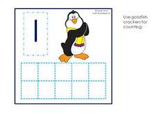 Penguin / Goldfish Cracker Counting (free)