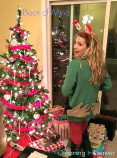 ugly christmas sweater # diy