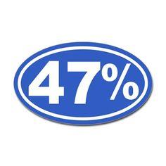 47 Percent Sticker  Sticker (Oval)