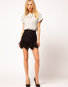 ASOS Skirt in Feather and Lace