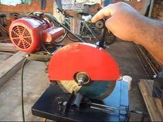 Policorte caseira feita com material de ferro velho 2/2 - YouTube