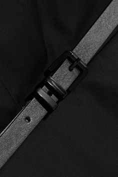 Max Mara - Belted Cotton Dress - Black - UK16