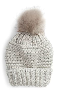 3d015e507c0 Free People Skyline Faux Fur Pom Beanie