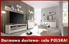 Meblościanka + Komoda meble pokojowe biała sonoma