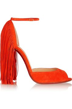 Christian LouboutinOtrot 120 fringed suede sandals