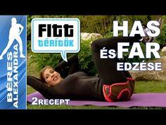 Béres Alexandra - Farizom és hasizom edzése (Fitt-térítők sorozat) - YouTube Abs Weights, Zumba, Nalu, Pilates, Health Fitness, Yoga, Gym, Youtube, Sports