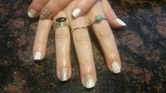 Shellac Grand Gala and Cream Puff with fun stamps!