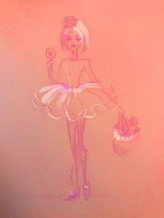 Quick illustration - fashion illustration - Erika Reponen Art - girl and lollipop Disney Characters, Illustration, Print Design, Fashion Illustration, Art Girl, Art, Aurora Sleeping Beauty, Character