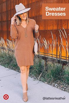 Sweater dresses are the perfect one-and-done outfit. Find business casual and party dresses for every winter occasion. Cute Fall Outfits, Classy Outfits, Casual Outfits, Fashion Outfits, Casual Dresses For Women, Cute Dresses, Clothes For Women, Party Dresses, Dresses Dresses