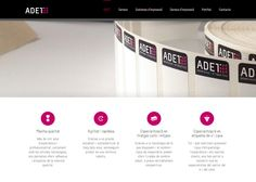 Disseny web de la pàgina d'ADET