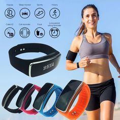 1pc Smart Bracelet Wristband band business watches Fitness Tracker Bluetooth Smart Pedometer waterproof LED display H4