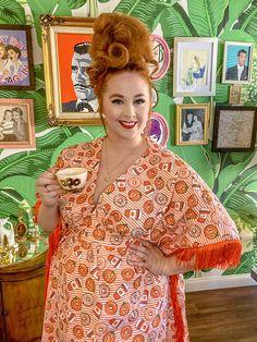 """The Pumpkin Spice Girl"" Cotton Caftan - Size 1 (S-XL)"