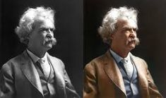 Image result for famous people black and white portraits colorized