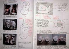 3D sculpture sketchbook documentation