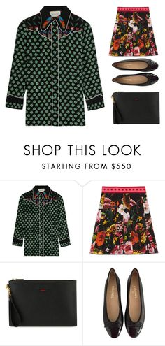 """""""Untitled #4012"""" by michelanna ❤ liked on Polyvore featuring Gucci and Chanel"""