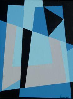 Abstract Geometric Art, Geometric Shapes, Modern Art, Contemporary Art, Composition Art, Collage, Mid Century Art, Art Abstrait, Japanese Art
