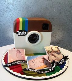 cute cake- good for the teens Cupcakes, Cupcake Cookies, Beautiful Cakes, Amazing Cakes, Snapchat Cake, Camera Cakes, Instagram Cake, Instagram Party, Teen Cakes