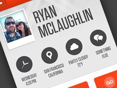 Contact detail page by Ryan McLaughlin Ux Design, User Interface Design, Interface App, Mobile Web Design, App Design Inspiration, Ui Web, Ios, Smartphone, Android