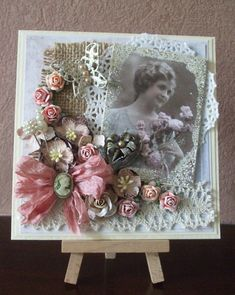 Vintage/Shabby Chic Tag card made by Inger Harding. Description from pinterest.com. I searched for this on bing.com/images
