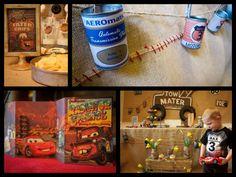 Vintage Cars Radiator Springs Birthday Party | CatchMyParty.com