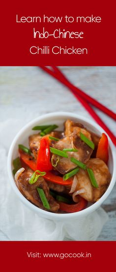 Learn how to make Indo-Chinese Chilli Chicken with this easy to follow recipe!