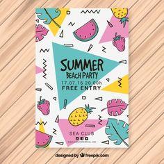 フルーツとサマーパーティーメンフィスのパンフレット