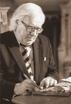 """Ray Bradbury (1920-2012) """"His library was a fine dark place bricked with books, so anything could happen there and always did. All you had to do was pull a book from the shelf and open it and suddenly the darkness was not so dark anymore."""""""