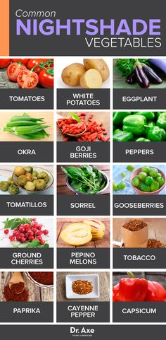 Nightshade Vegetables http://www.draxe.com #health #holistic #natural