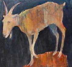Harold balazs: alive at 85 & mel mccuddin: lately Figure Painting, Painting & Drawing, Goat Art, Animal Paintings, Goat Paintings, Artist Art, Spirit Animal, Pet Portraits, Painting Inspiration