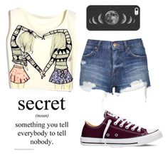 """""""Secrets"""" by just-a-reject-x ❤ liked on Polyvore featuring Topshop, Converse, Casetify, women's clothing, women, female, woman, misses and juniors"""