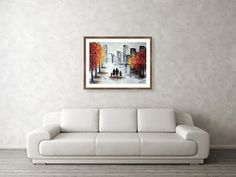Love in the city 2 Framed Print by Iulia Paun Modern acrylic on canvas home artwork. Ready to hang on the wall. MADE TO ORDER.  #art #painting #abstract #acrylic #modern #original #wall #decor #gift #cityscape #landscape #palletknife #couple #redpainting #black&white Framed Art, Framed Prints, Canvas Prints, Art Prints, Canvas Home, Frame Shop, Fine Art Photography, Nature Photography, Wood Print
