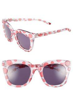 Fun and cute! Pretty pink polka dot sunglasses.