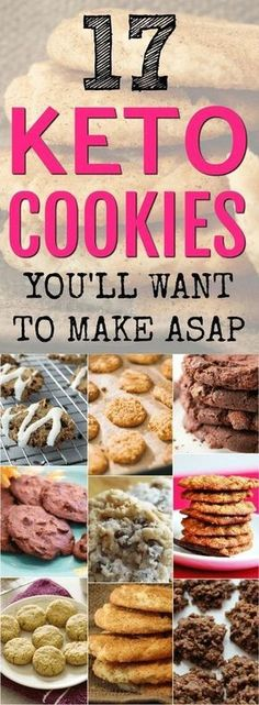 These keto cookies taste AMAZING! I've picked 17 delicious keto cookies for anyone on a low carb diet or keto diet. All of these ketogenic cookies are sugar-free, but I bet you won't know it when you taste them. #ketocookies #ketodesserts