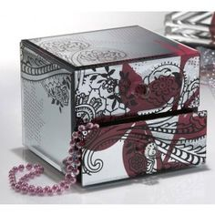 Oblong Octagon Mirrored Jewelry Box Plus a Giveaway Holiday