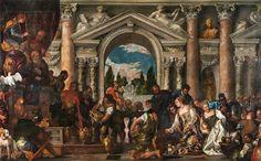 La regina di Saba offre doni a Salomone, di Paolo Caliari detto il Veronese (e bottega). Galleria Sabauda di Torino. Opera restaurata dalla Consulta di Torino nel 2013.
