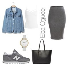 """""""Outfits with the skirt"""" by elsaogude on Polyvore featuring Gap, Sans Souci, New Balance, Yves Saint Laurent and Skagen"""