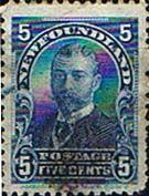Newfoundland 1897 SG 90 King George V when Duke of York Used SG 90 Scott 83 Other Newfoundland Stamps HERE
