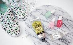 """I love reading and watching """"myfavorites""""blog postsand YouTube videos so I thought I might start a monthly favorites of my own!  The items pictured above are my favorite discoveries in May. Now that I caught the travel bug I am planning to travel and explore more this summer and I am definitely packing these items with me. 1.Essie Nail polishes  With open toe season here in full swing a pretty pedicure becomes pretty important. I'm loving the variety of spring shades that are available in…"""