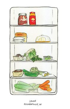 open refrigerator drawing. whatu0027s in your fridge on behance open refrigerator drawing c