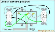 wiring outlets and lights on same circuit google search diy rh pinterest com Multiple Outlet Wiring Diagram Electrical Outlet Wiring Diagram