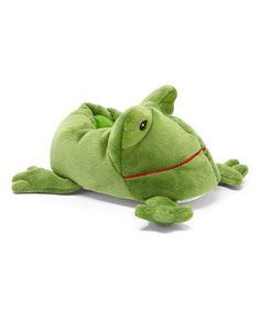 Zac & Evan Green Frog Slipper by Zac & Evan #zulily #zulilyfinds