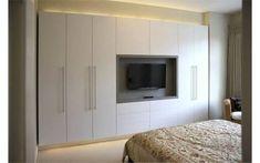 Resultado de imagem para bedroom wardrobe with tv