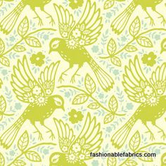 Fabric... Up Parasol Meadowlark in Chartruse by Heather Bailey for FreeSpirit Fabrics
