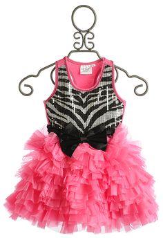 e3dc7f10479 Ooh La La Couture Wow Dream Dress Candy Pink Zebra Girls Formal Dresses