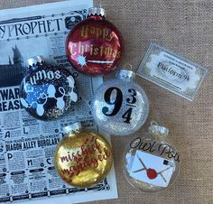 Harry Potter Inspired Christmas Ornaments  Holiday Decor