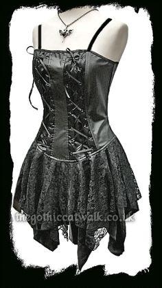 Gothic Black PVC Corset Dress